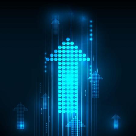 Ilustración de Abstract Blue Arrows technology communicate background, vector illustration - Imagen libre de derechos