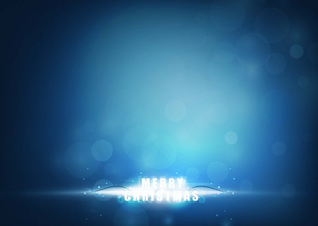Illustration pour Merry christmas bright rays of light with blue color background. vector illustration - image libre de droit