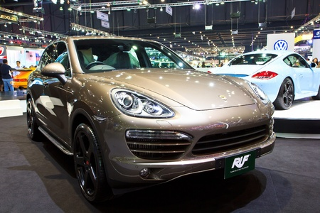 NONTHABURI, THAILAND - DECEMBER 1  The RUF RT 12 S based on Porsche cayman in the Motor Expo 2012 on December 01, 2012 in Nonthaburi, Thailand
