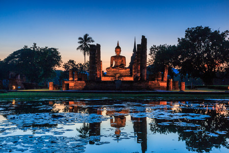 Sukhothai historical park, the old town of Thailand , They are public domain or treasure of Buddhism, no restrict in copy or use