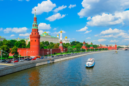 View of Moscow Kremlin and Moscow River, Russia