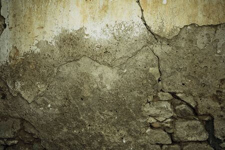 Photo pour Dark urban wall background with copy space and crack - image libre de droit