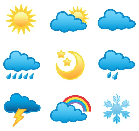 Weather forecast icon illustration in vector format