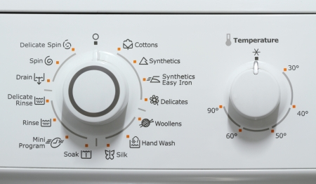 Washing machine complex setting control dials