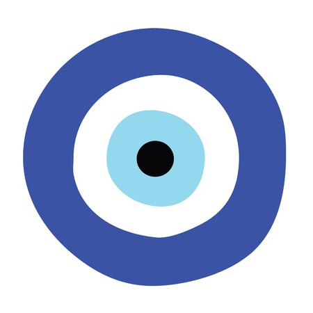 Illustration pour greek evil eye vector - symbol of protection - image libre de droit