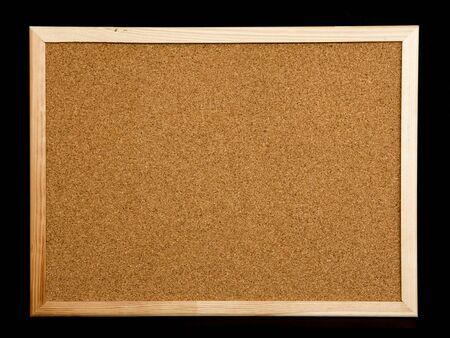 cork board on black background
