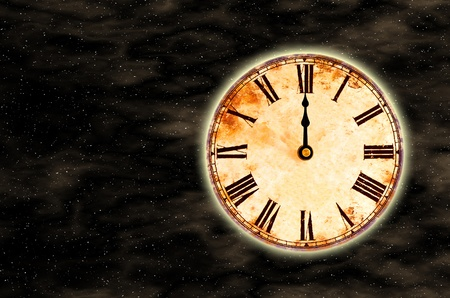 time and space, twelve o'clock