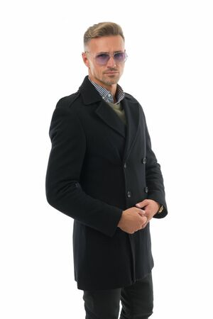 Photo for Fashion shop. Attractive mature man. Mature guy with grey hair and bristle. Fashion outfit for business. Fashionable model businessman. Fashion guy demonstrate clothes. Luxury design clothes - Royalty Free Image