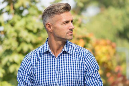 Photo pour Handsome man with stylish hair at outdoor - image libre de droit