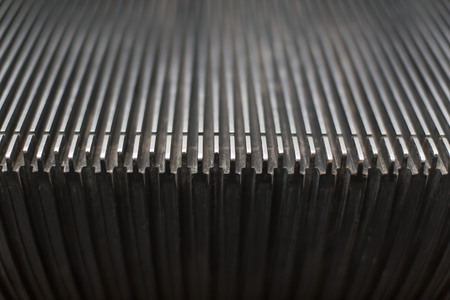 escalator step metal works out of steel mechanic technology, an artistic pattern photography