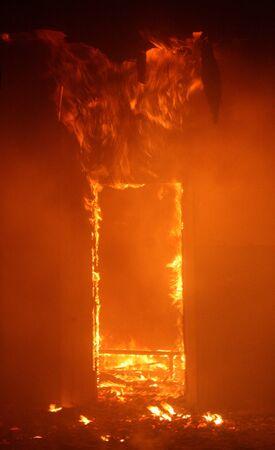 Photo pour Fire in Building - image libre de droit