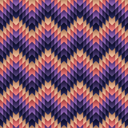 Purple Pink Aztec Pattern