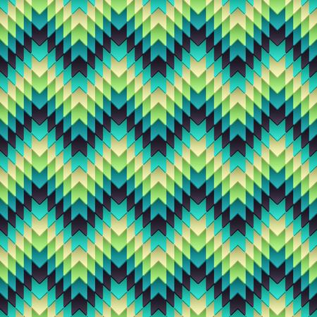 Blue Aztec Zig Zag  Wallpaper