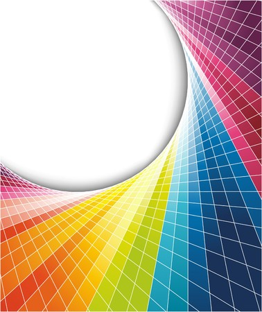 Rainbow colorful background with optical effect. illustration