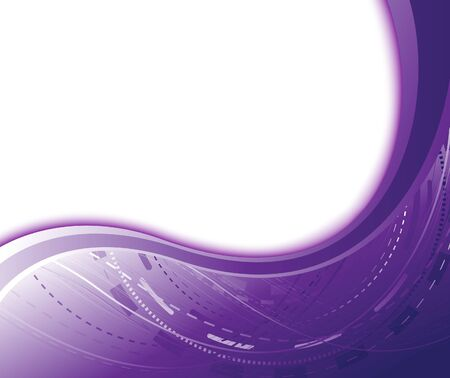 Violet abstract geometrical banner.