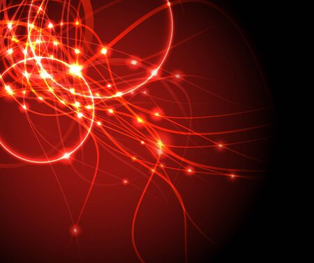 Red wire - internet background. Vector illustration