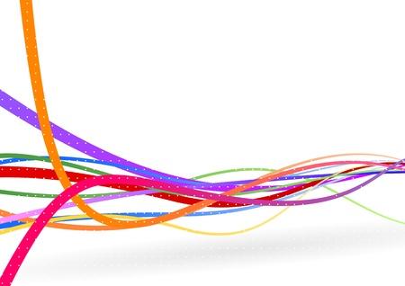 Wire background - stream line  illustration