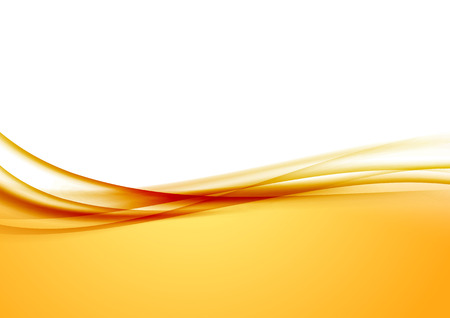 Abstract orange swoosh satin wave line border. Vector illustration