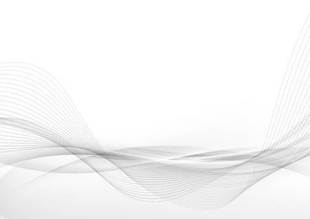 Illustration pour Elegant abstract smooth swoosh speed gray wave modern stream background. Vector illustration - image libre de droit