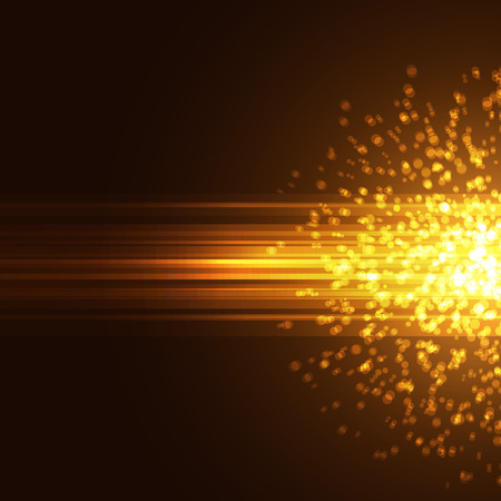 Modern bright particle abstract background explosion ray card. Vector illustration