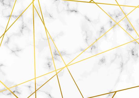 Ilustración de Thin minimal golden metallic triangle line pattern over marble layout. Vector illustration - Imagen libre de derechos