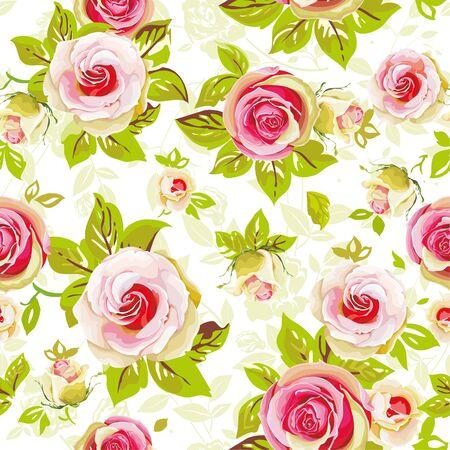 Illustration pour Seamless floral pattern with roses - image libre de droit