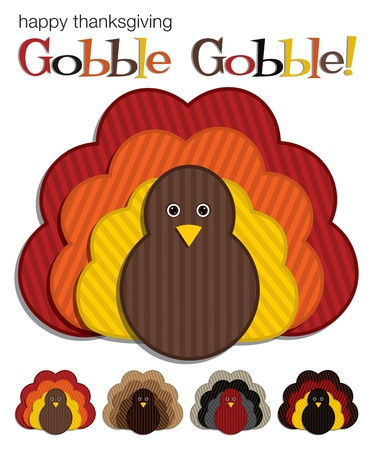 Turkey stickers in vector format