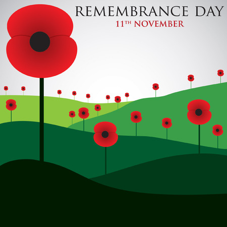Illustration for Remembrance Day card in vector format. - Royalty Free Image