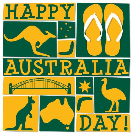Vektor für Funky Australia Day card in vector format. - Lizenzfreies Bild