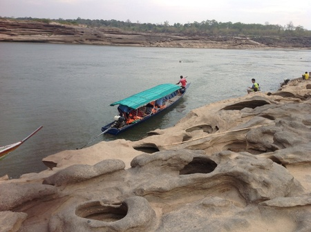 Maekhong river whit stonecutter by nature