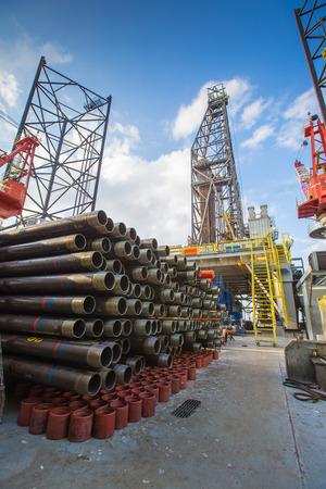 Tubing casing and pup joint of oil and gas well on drilling rig,oil and gas platform completion