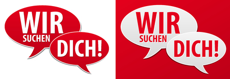 Illustration for We are looking for you speech bubble. Eps10 Vector. - Royalty Free Image