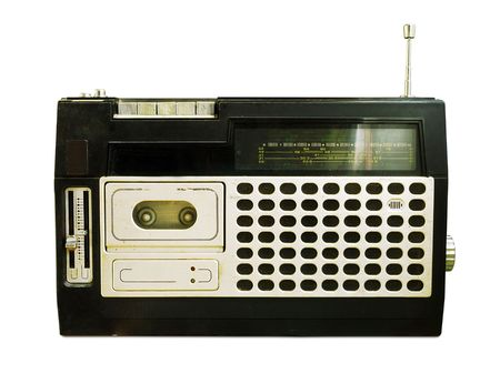 Retro Radio / Tape Recorder (+clipping path for easy background removing if needed)