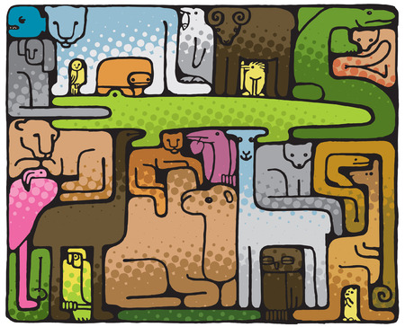 Animal Puzzle (vector or XXL jpeg image)