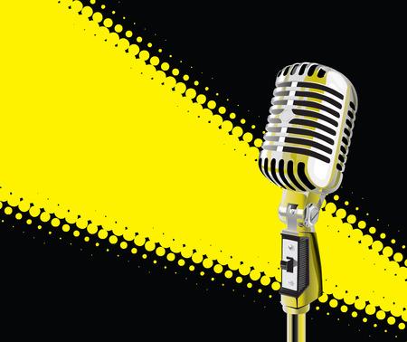 Microphone In Spotlight (vector + XXL jpeg image)
