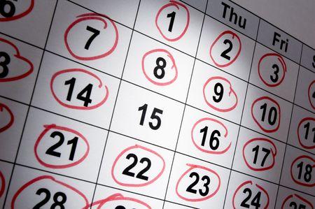 close up of calendar