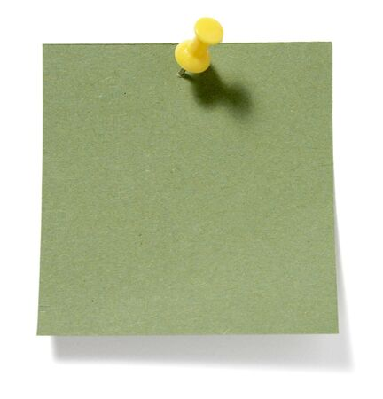 close up of postit reminders on white background