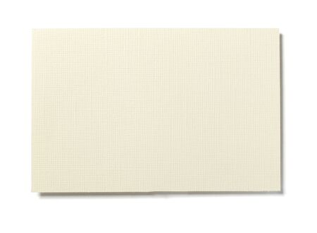 close up of  yellowed textured  piece of paper on white background  with clipping path