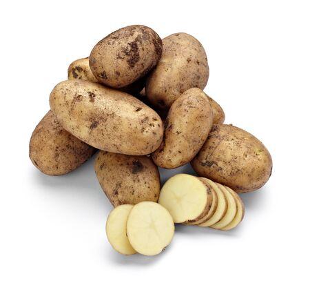 Foto für close up of a potato on white background with clipping path - Lizenzfreies Bild