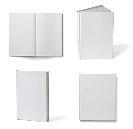 collection of various books on white background  each one is shot separately
