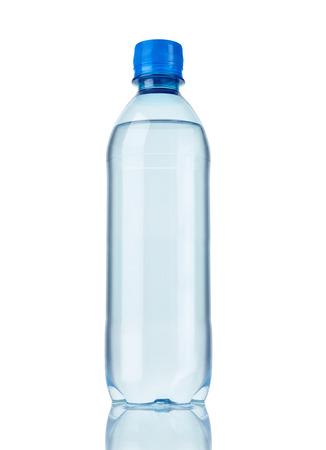 Photo pour close up of  a plastic bottle on white background - image libre de droit