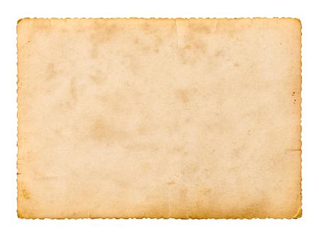 Photo pour close up of an old photos instant film on white background - image libre de droit