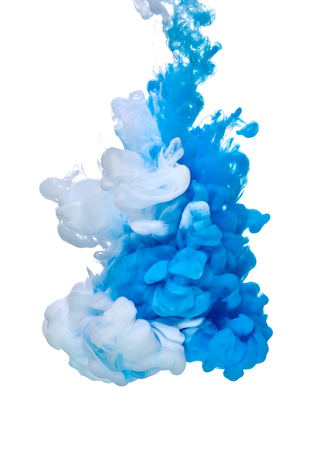 Photo for blue white paint in water - Royalty Free Image