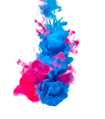 Photo for blue red paint in water - Royalty Free Image