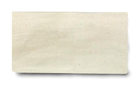 Photo pour close up of piece of news paper on white background - image libre de droit