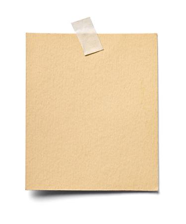 Photo pour close up of a note paper on white background - image libre de droit