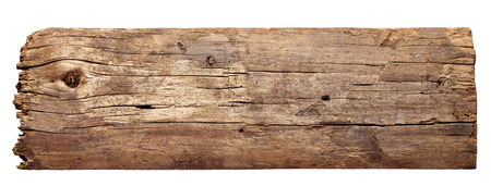 Photo pour close up of a wooden sign background on white background - image libre de droit