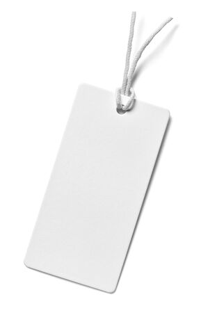 Photo pour close up of  a price label note on white background - image libre de droit