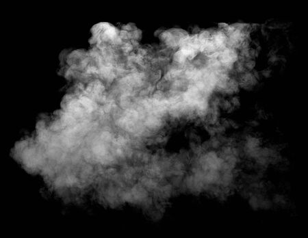 Foto de close up of steam smoke on black background - Imagen libre de derechos