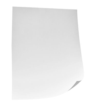 Photo for close up of flying papers on white background - Royalty Free Image